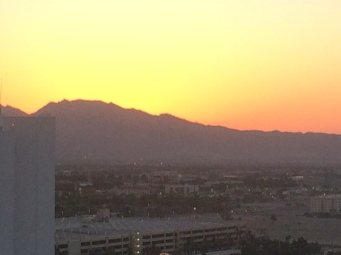 Sunrise from the Strip